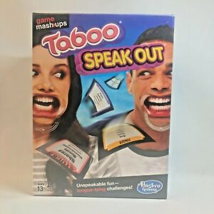 Hasbro Game Mashup -Taboo Speak Out Party Family Board Game - NEW Factory Sealed