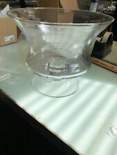 Vintage spiral glass fruit bowl