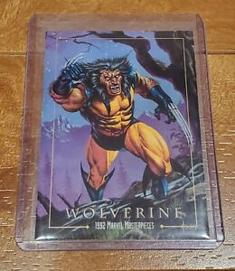 1992 Marvel Masterpieces WOLVERINE - RARE BLUE BACK PROMO CARD - Jusko