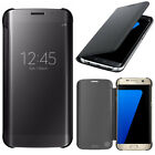Housse Coque Etui Clear View Smart Cover pour Samsung Galaxy S7 edge G935F