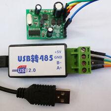 USB to Modbus 485 RTU Temperature Monitor Module DS18B20 RS485 PLC Network TVS