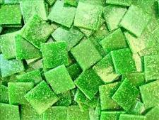75 Pack Olive Green 20mm Vitreous Mosaic Tiles Tesserae