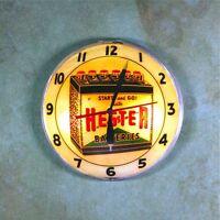 "Vintage Advertising Clock Fridge Magnet 2 1/4""  Hester Car Truck Batteries"