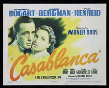 CASABLANCA * CineMasterpieces ORIGINAL MOVIE POSTER TITLE LOBBY CARD 1942
