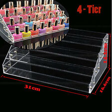 4 Tier Nail Polish Care Display Stand Rack Acrylic Clear Makeup Organizer Holder