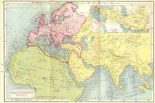 ORBIS VETERIBUS NOTUS. Roman Empire; Alexander 1908 old antique map plan chart