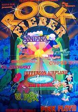 SANTANA + LOVE AND MUSIC + PINK FLOYD + T. REX + AL STEWART + GERMAN 1-SHEET +