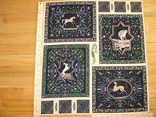 Renaissance Managerie Reynolds Stack N Whack Cotton Quilt Fabric Panel  OOP