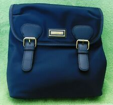 H57 Calvin Klein Navy Blue Faux Leather Belfast Messanger Crossbody Handbag