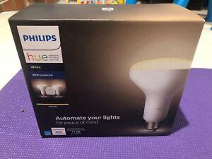 Philips Hue White BR30 Smart Light Bulb Starter Kit - 2 Bulbs + Smart Hub