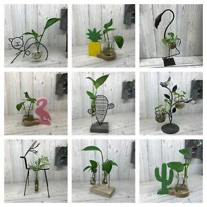 Hydroponic Home Decor Metal Flower Plant Pot Stand Ornament