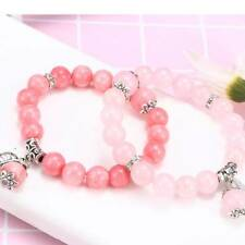 Fashion Handmade Natural Stone Round Agate Beads Stretch Bracelet 10mm Jewelry