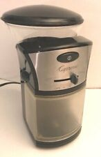 Jura Capresso Coffee Burr Grinder 1/2 Lb Adjustabe One Touch / Automatic Off 559