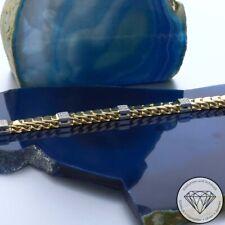 Wert 2.450,-  Brillant Armband 18,0 cm 585 / 14 Karat Weiß-/Gelbgold xxyy