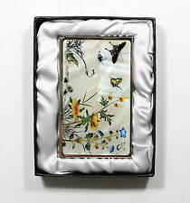 Traditional Korean Business Card holder, name card case - butterfly and flower1