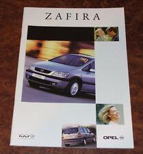 Catalogue OPEL ZAFIRA 1 de 2000