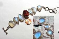 Pulseras de joyería con gemas de plata de ley piedra luna