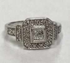 Beautiful White Gold Magic Glo Diamond Ring Approx 1/2cttw Size 4.5