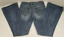 SILVER Jeans Camden Rose Bell Bottom Flare 27 x 31 Medium Wash Denim Women's EUC
