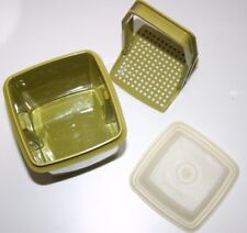 Vintage Tupperware Pick-A-Deli Avocado #1330-5 Olive Pickle Keeper made in Usa