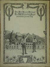 Studentenverbindung Rugia, Tuschezeichnung, 1909, Mensur, Burschenschaft