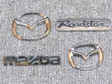 89 2005 Mazda Roadster NA NB 4Piece Black Roadster Emblems Set Rare Item JDM OEM