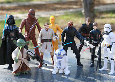 10pc Star Wars StormTrooper Darth Vader Maul Yoda Chewbacca C-3PO R2-D2 Figurine