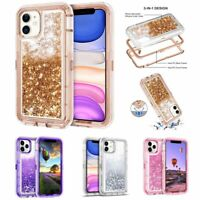 Women Girl Bling Glitter Liquid Sand Quicksand Phone Case For iPhone 11 Pro Max