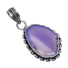 Collane e pendagli di lusso con gemme viola in pietra principale agata