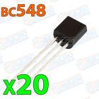 20x BC548 Transistor NPN BJT 30V 100mA 500mW 300MHz 100hFE TO-92