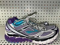 Brooks Ghost 5 Womens Athletic Running Training Shoes Size 6 White Purple Blue