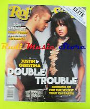 ROLLING STONE USA MAGAZINE 925/2003 Justin And Christina Evanescence  No cd
