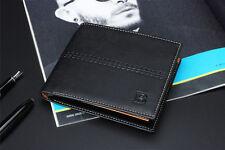 New Men's Leather Bifold ID Card Holder Purse Wallet Billfold Handbag Clutch