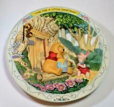"1994 Walt Disney Ceramic Time For Little Something Winnie Pooh 7 1/4"" 3D Plate"