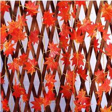 8ft Artificial Maple Leaf Fake Vine Foliage Garland Autumn Fall Leaf Home Decor