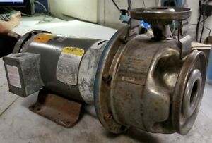 """GOULDS 3 HP STAINLESS CENTRIFUGAL PUMP 1"""" x 2""""-6 230/460 VAC 3450 RPM 9SHK2"""