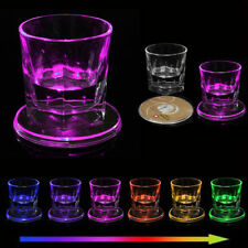 LED Coaster Variable Light Color Change Cup Mat Tableware