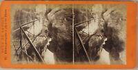 Gorges Del Proud Francia Foto Stereo Lamy PL55L2n Vintage Albumina c1870