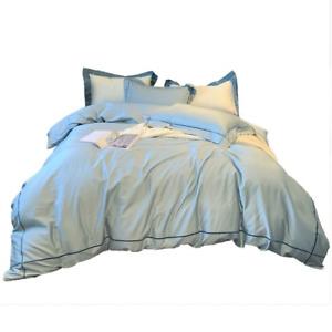 Light Luxury 60 Long-staple Cotton Quilt Cover Cotton 4PC Bed Sheet Quilt Cover