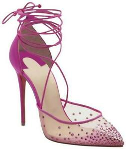Christian Louboutin MAIA LABELLA 100 Crystal Mesh Wrap Sandals Heels Shoes $1245