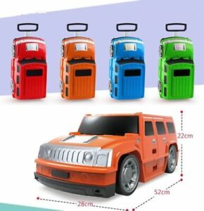 Children Kids Holiday Travel Hard Shell Suitcase Luggage Trolley Bags Car Jeep