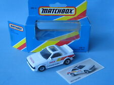Matchbox Toyota MR2 MKI White Body Boxed Sports Toy Model Car With Pic Card 70mm