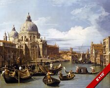 ENTRANCE TO THE GRAND CANAL VENICE ITALY PAINTING ITALIAN ART REAL CANVAS PRINT