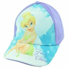 Disney Fairies Tinker Bell Charm Adjustable  Screen Print Purple Hat Cap