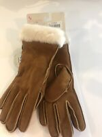 Koolaburra by UGG Water Resistant Suede Gloves BNWT In Color Chestnut 🌰 S.Small