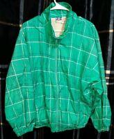 Vintage 80s/90s Pro Spirit Women's Green Windbreaker Jacket sz XL FREE SHIPPING!