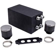 Baffled Oil Catch Can For Honda Civic Acura Integra EK EG DC2F Black 4 Port 10AN