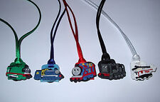 5 THOMAS THE TRAIN ENGINE NECKLACE COLOR CORDS PARTY FAVORS PRIZE GOODY BAG GIFT