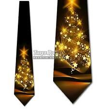 Christmas Tree Ties Men's Holiday Star Tree Necktie