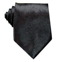 New Solid Black Classic Mens Silk Tie UK Seller Wedding Suit Son UK Seller